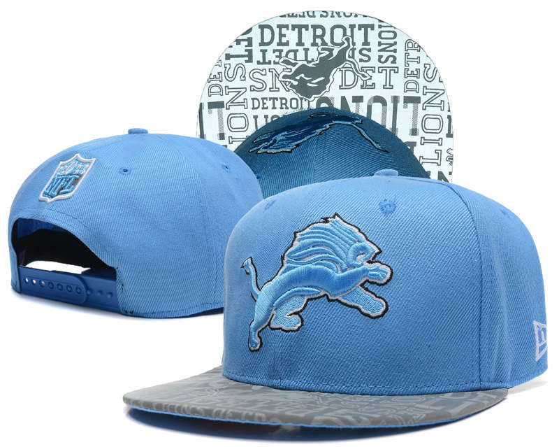 Detroit Lions 2014 Draft Reflective Blue Snapback Hat SD 0613